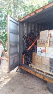 Erster Einblick: Der Container nach dem Versand